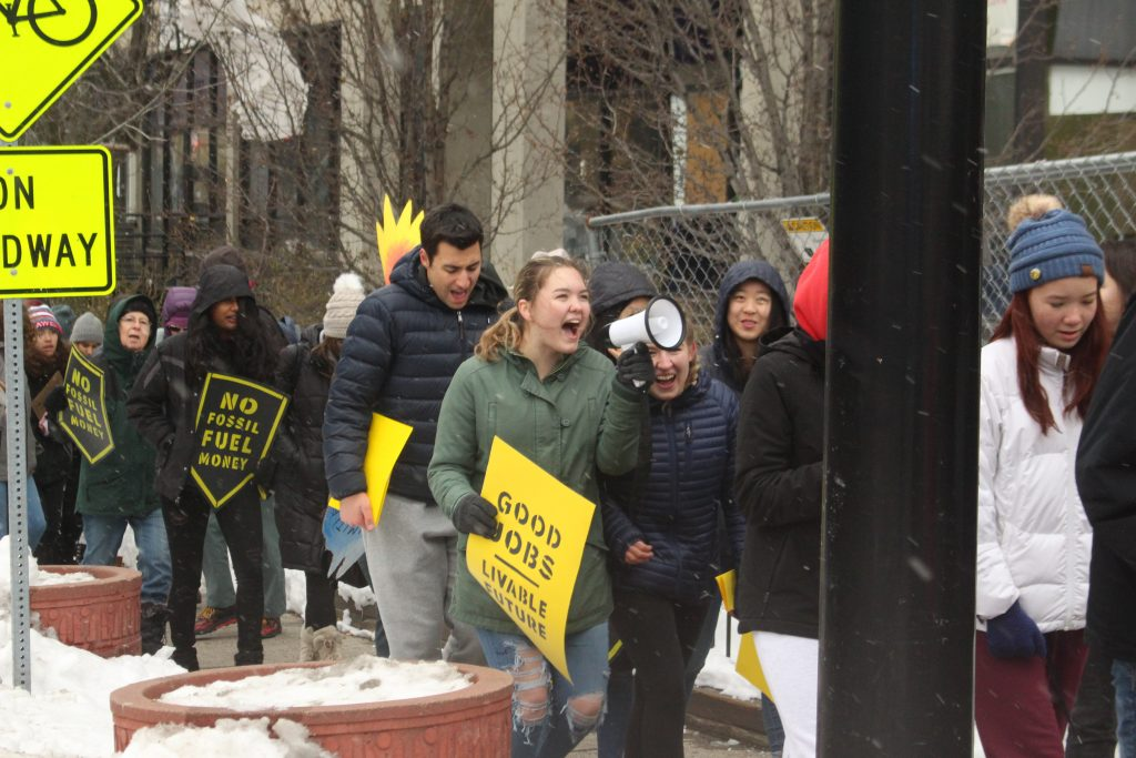 Students march in Springfield in support of Green New Deal